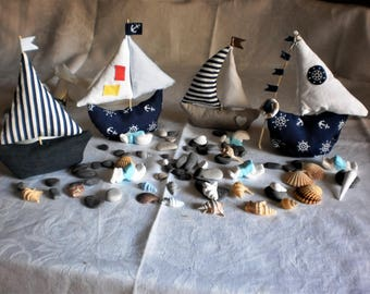 """Favor boxes """", placeholder, boats, birth, baptism, marriage, wedding, birthday parties, seashore theme, handmade"""
