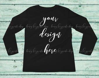 Black Long Sleeve Mockup, Long Sleeve Mockup, Product Mockup, Shirt Mockup, Clothing Mockup, Mockup Pictures, Apparel Mockup, T-Shirt Mockup