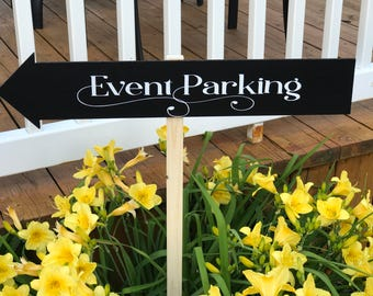 Wedding Direction Signs - Wedding Arrow Signs - Wedding Chalkboards - Custom Directional Signs - Rustic Wedding Signs - Outdoor Wedding Sign