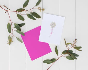 Card • balloon confetti