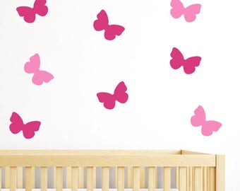 Butterflies Stickers - Peel and Stick - Removable, Butterfly Decals, Wall home decor, nursery, kid room decorating