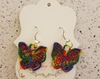 Lace Butterfly Earrings