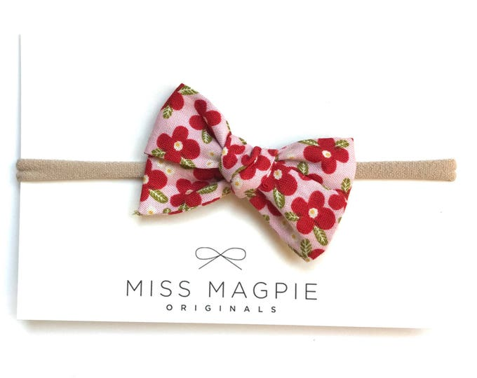 Sloane bow || Floral