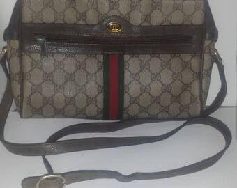 Authentic Gucci coated canvas messenger bag