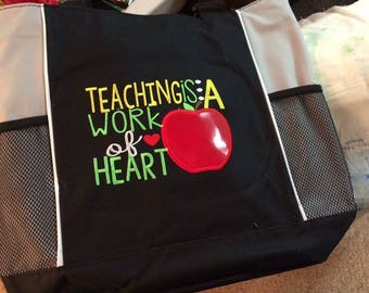 Teacher Tote Embroidered