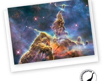 Carina Nebula Greeting Card, Blank Card, Space Stationery, Nebula Birthday Card, Any Occassion Card, Space