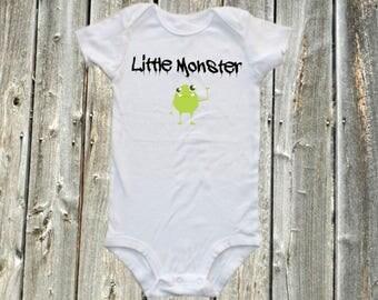 Funny baby, baby bodysuit,  one-piece shirt - Little Monster , little monstr onesie, monster onesie and bodysuit