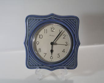 Lovely wall clock,  Richter West German Pottery, WGP