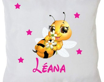 Personalized bee pillow + name