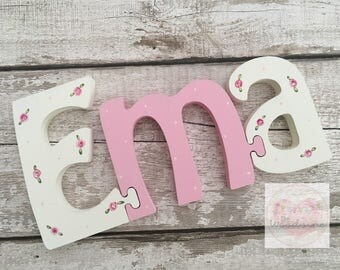 3 Letter Personalised Wooden Jigsaw Name