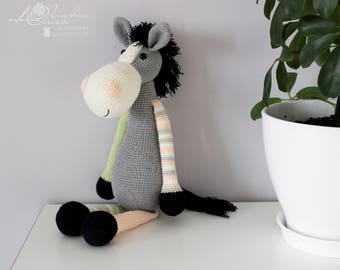 Horse Big toy Crochet toy Amigurumi Knitted toy Baby toys Stuffed toy Baby gift soft toy Gift for boy girl Soft Horse Knit animals Handmade