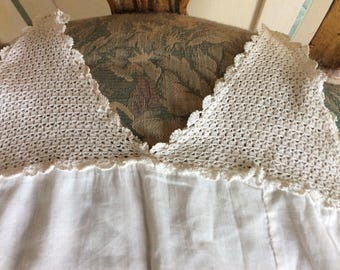 Antique French Toddlers Dress/Petticoat, Heirloom quality, Hand Crocheted, Never Worn, Mint!