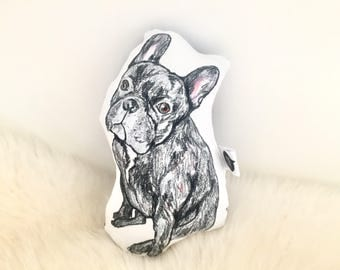 French bulldog decor, baby rattle | frenchie, custom dog pillow, pet loss gifts, custom pet pillow