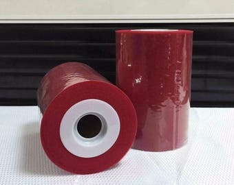 Tulle roll high quality red Tango 15 cm x 82 m for tutu and decoration.