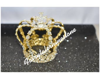 Rhinestone crown, crown cake toppers