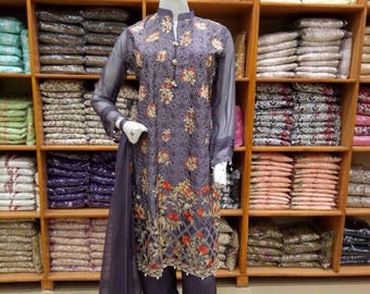 Pakistani 3pc embroidered suit