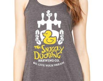 Flowy Racerback Tank Snuggly Duckling Tee Disneyland Shirt Disney World Shirt Magic Kingdom Tee Tangled Tee Rapunzel Flynn Rider