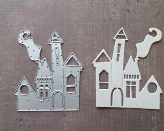 Die cut matrix Sizzix fall Halloween Haunted House Castle