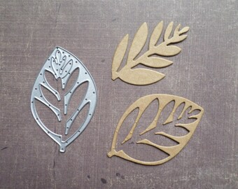 Die cut matrix Sizzix Nature large leaf