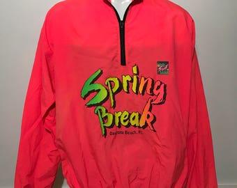 Vintage Surf Style Spring Break Daytona Beach Windbreaker L/XL