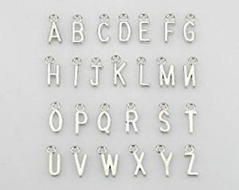 Letter Charms / Alphabet Charms / Silver Letter Dangle Charms / Personalized Jewelry / Silver Letters / Initial Charms / Add On / SALE Charm