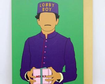 "The Grand Budapest Hotel Card ""LOBBY BOY"""