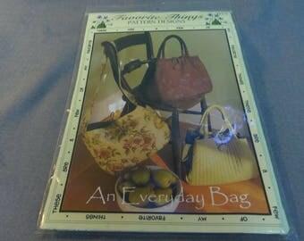 "Handbag Sewing Pattern, An Everyday Bag, H 11"" x W 14"" x D 6"", My Favorite Things 055, Purse, Carry All, Handbag"