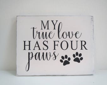 Paw Print Sign/Pet Sign/Hand Painted Sign/Dog Sign/Cat Sign/Wooden Sign/Paw Print Sign
