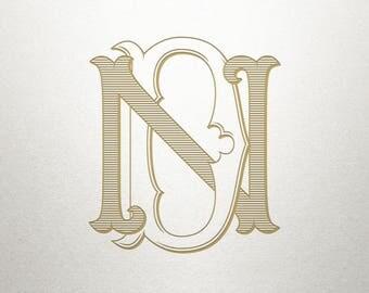 Interlocking Wedding Monogram - DN ND - Interlocking Wedding - Digital