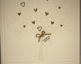 Glittery Wedding congratulations card.