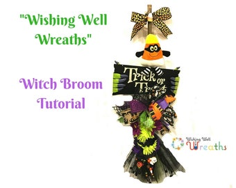 Video How To Make Halloween Witch,DIY Halloween Witch Broom,Downloadable Video Witch Swag,How To Make Halloween Decor,DIY Witch Door Hanger