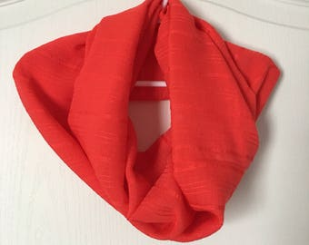 Woman's Red Infinity Scarf