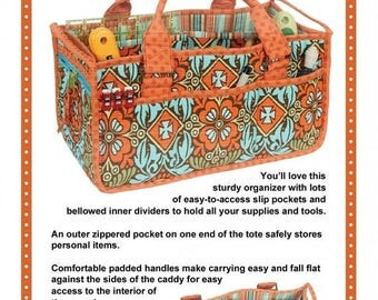Sale Catch All Caddy Pattern from Patterns by Annie - Storage Caddy Organizer