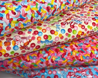Bundle of 4 Candy Fabrics from the Candy Shop Collection by Lecien Fabrics, Candy Quilt, I Spy Quilt, Gumball