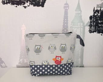 Bag Grey with Owls