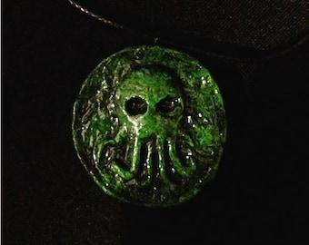 Cthulhu Necklace  //LoveCraft//HPlovecraft//Demon//Horror//Idol//Necronomicon//Sculpture//Magic//Spells