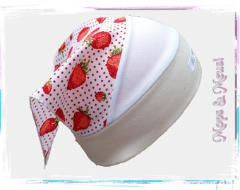 Headscarf desire size retro pink white red strawberries