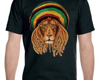 Rasta Lion With Dreadlocks Tee-Shirt