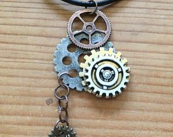 Steampunk Drop Necklace