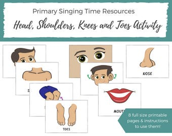 LDS Primary Music - LDS Primary Sharing Time - Music Aids for Teacher Teacher Printable - LDS Primary Singing Time - Teaching Children Music