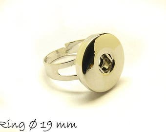 2 PCs ring Exchange jewelry button Platinum Ø 19 mm