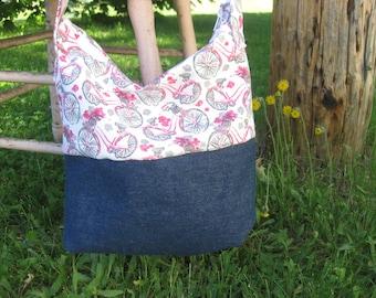 Lovely shoulder bag, bicycle pink! Bag for summer 2017 / / gift for woman