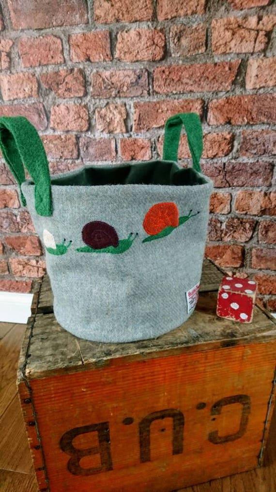 Hand Crafted Harris Tweed storage bag