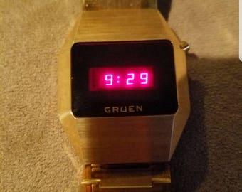 Vintage Authentic Gruen LED Watch