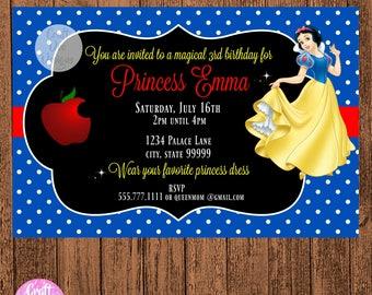 Snow white Invitation, Snow white birthday, Snow white invites, Snow white birthday printable, Snow white party, Snow white Printable