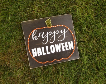 Happy Halloween Pumpkin String Art *Made-to-Order*