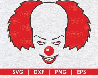 Pennywise The Clown It Movie SVG DXF Silhouette Cameo Cricut Cut File