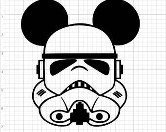 Storm Trooper Mickey Mouse SVG EPS DXF Studio3 Cut Files