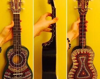 Hand painted ukuleles
