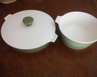 Vintage Centura Corningware-Avocado green